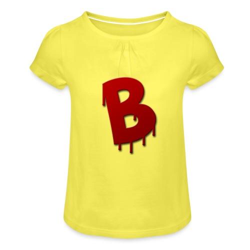 Rood Bartjuh - Meisjes-T-shirt met plooien