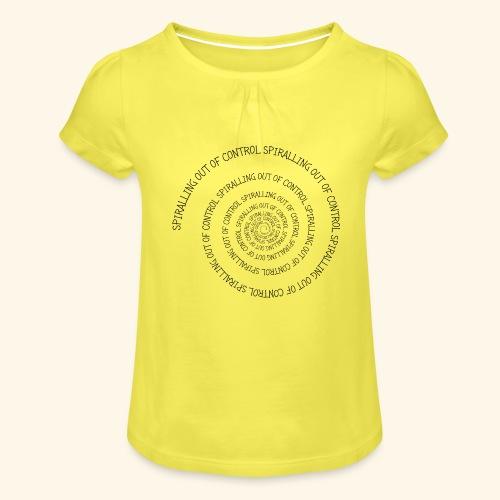SPIRAL TEXT LOGO BLACK IMPRINT - Girl's T-Shirt with Ruffles
