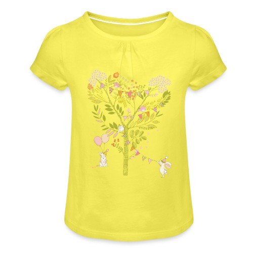 rabbit Party - Girl's T-Shirt with Ruffles