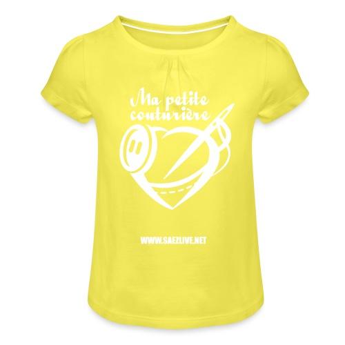 Ma petite couturière (version light) - T-shirt à fronces au col Fille