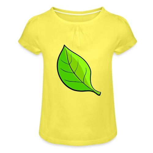 Natuur - Meisjes-T-shirt met plooien