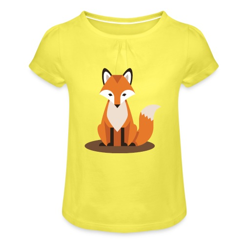 Fuchs - Mädchen-T-Shirt mit Raffungen