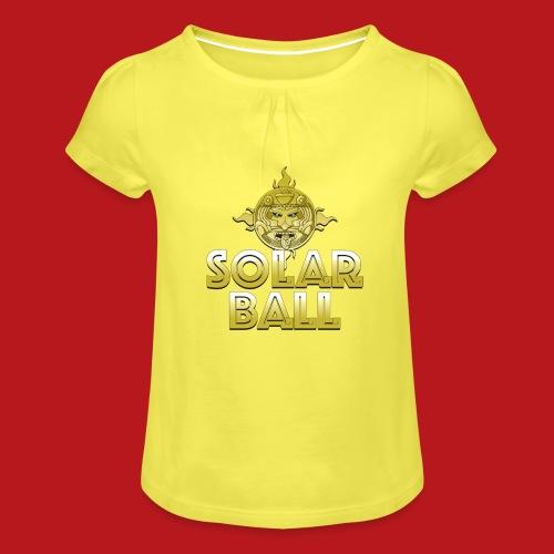 Solar Ball - T-shirt à fronces au col Fille