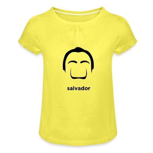 Salvador Dalì - Maglietta da ragazza con arricciatura