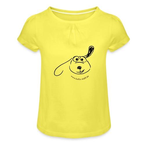 B 5 - Mädchen-T-Shirt mit Raffungen