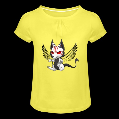 Démon Wolfire - T-shirt à fronces au col Fille