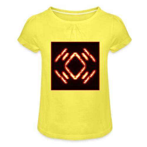 Lichtertanz #2 - Mädchen-T-Shirt mit Raffungen