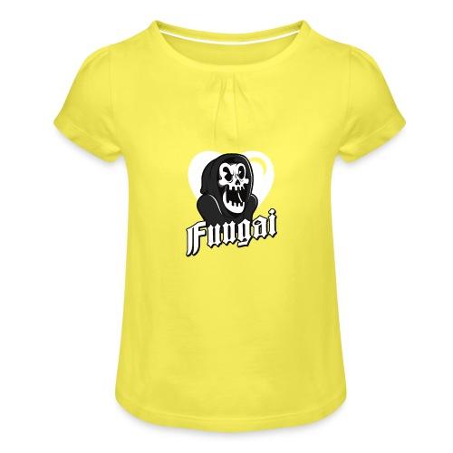 Fungai - T-shirt med rynkning flicka