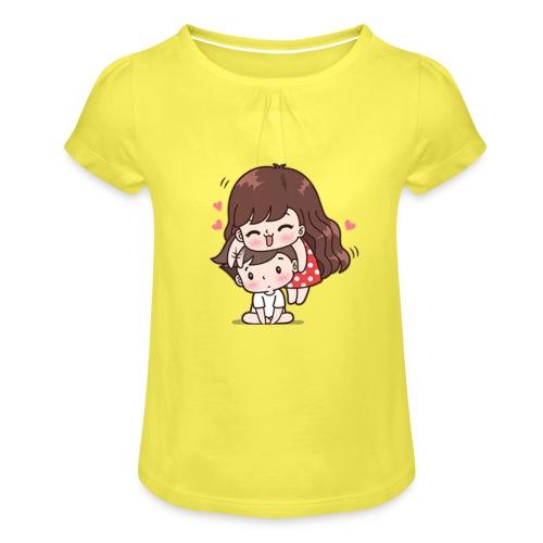 Amor - Camiseta para niña con drapeado