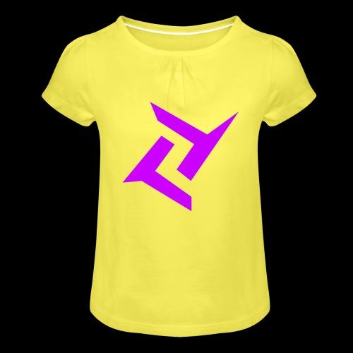 New logo png - Meisjes-T-shirt met plooien