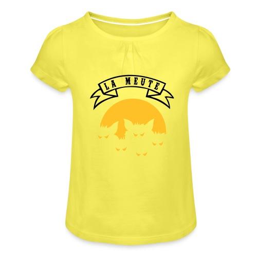 la meute - T-shirt à fronces au col Fille
