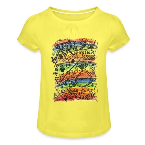 Cosmic Montessori - Tyttöjen t-paita, jossa rypytyksiä
