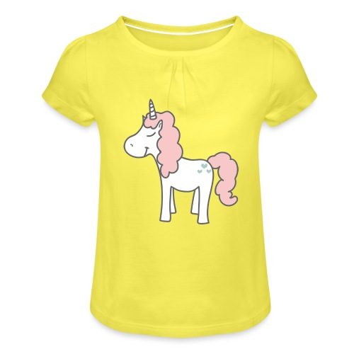 unicorn as we all want them - Pige T-shirt med flæser