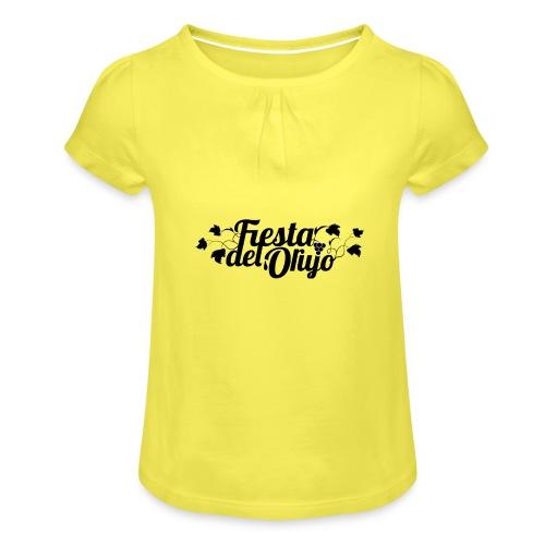 Fiesta del Orujo - Camiseta para niña con drapeado