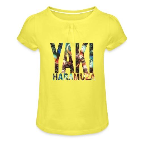 YAKI HARAMUZA BASIC HERR - T-shirt med rynkning flicka