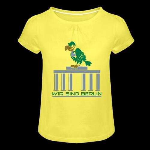 Berlin Geier - Mädchen-T-Shirt mit Raffungen