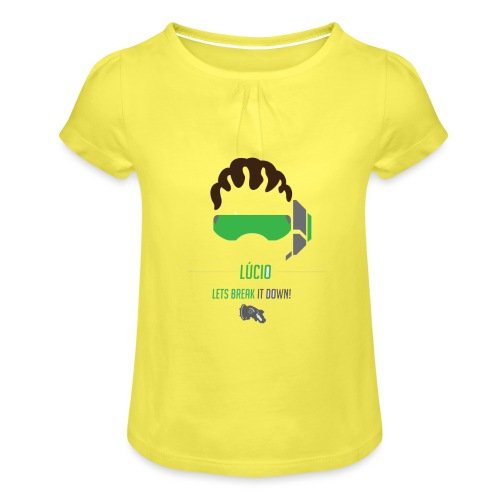 Lucio - Meisjes-T-shirt met plooien