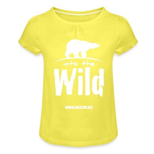 Into the wild (version light) - T-shirt à fronces au col Fille