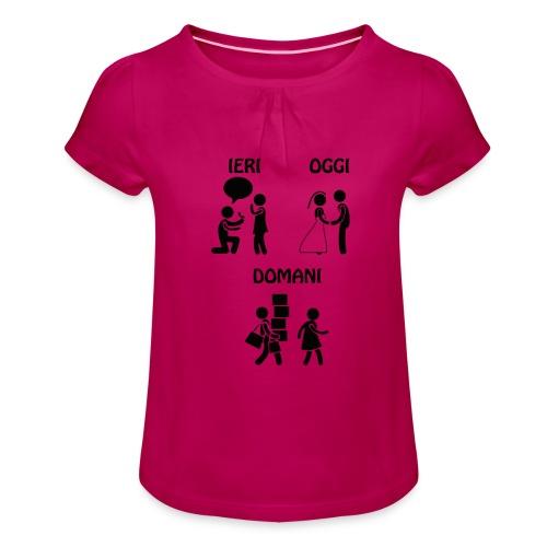 4 - Maglietta da ragazza con arricciatura