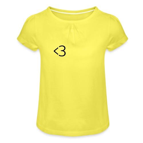<3 - Pige T-shirt med flæser
