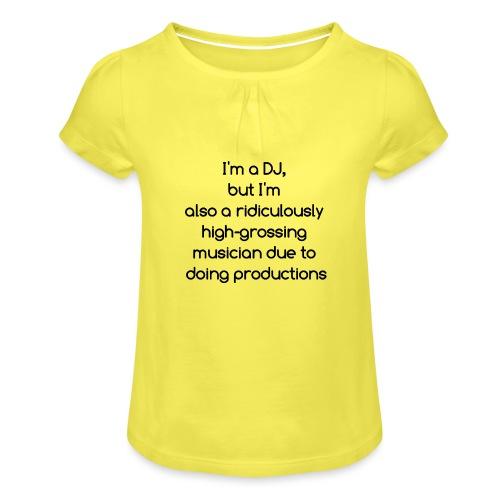 IM A DJ! - Meisjes-T-shirt met plooien