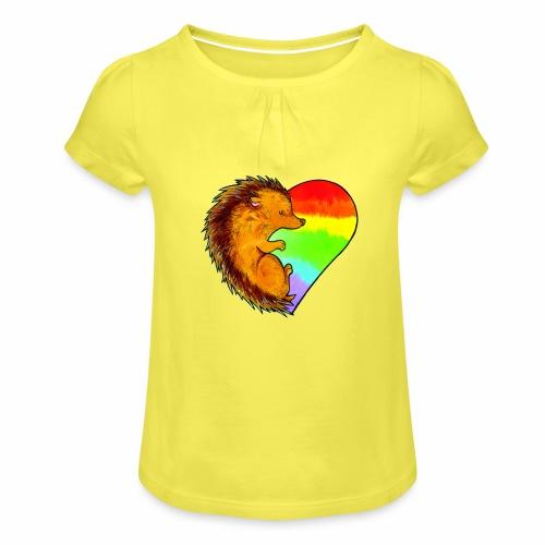 RICCIO - Maglietta da ragazza con arricciatura
