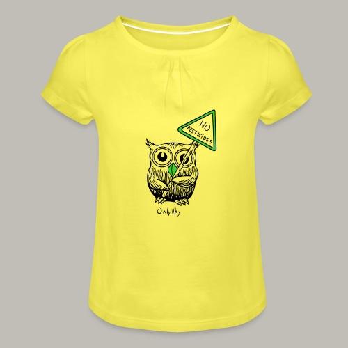 No pesticides - T-shirt à fronces au col Fille