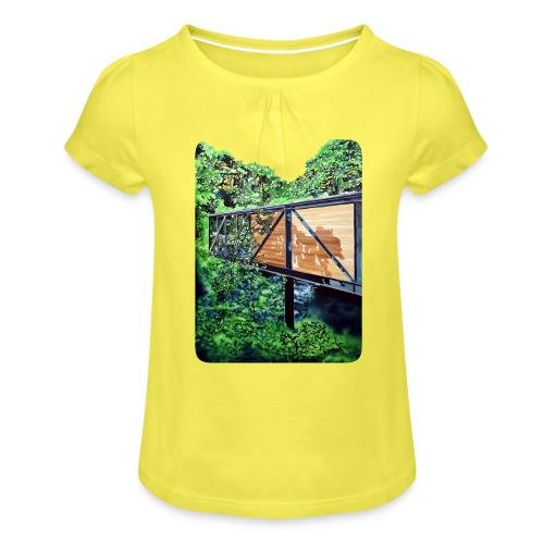 by Eamon O'Kane - Pige T-shirt med flæser