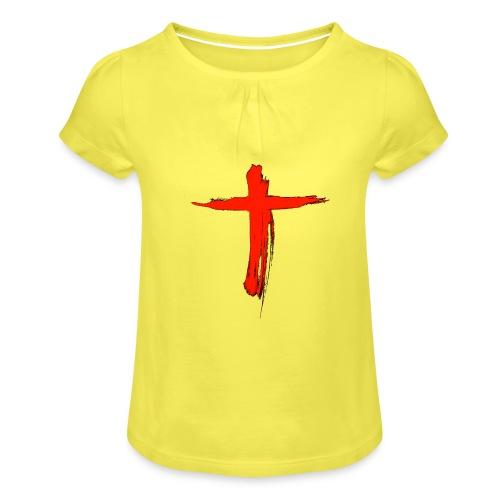 the cross - Camiseta para niña con drapeado