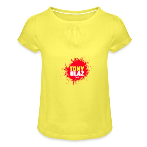 Marca Tony Olaz dj - Camiseta para niña con drapeado