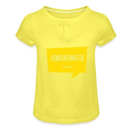 Sinti Lives Matter - Girl's T-Shirt with Ruffles