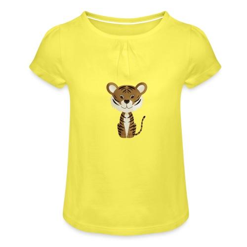 Tiger Monty - Mädchen-T-Shirt mit Raffungen