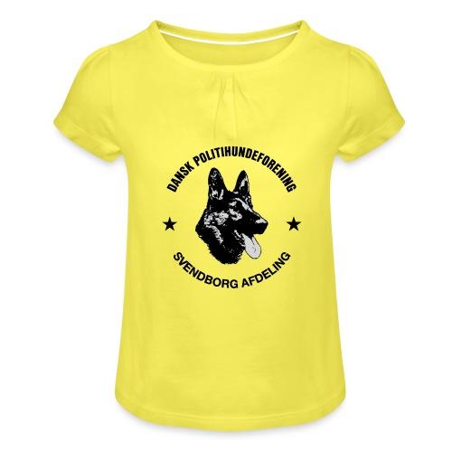 Svendborg ph sort - Pige T-shirt med flæser