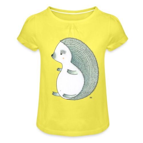 egel - Meisjes-T-shirt met plooien