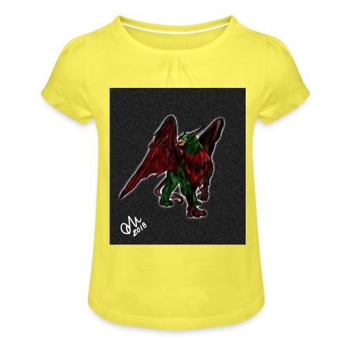 Grifone verde-rosso - Maglietta da ragazza con arricciatura