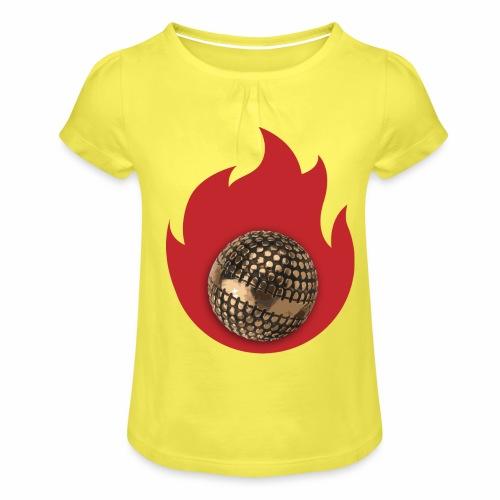 petanque fire - T-shirt à fronces au col Fille
