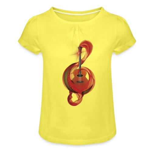 Power of music - Maglietta da ragazza con arricciatura