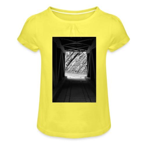 4.1.17 - Mädchen-T-Shirt mit Raffungen