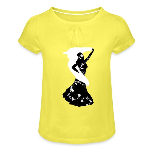 Bellydancer with veil - Girl's T-Shirt with Ruffles