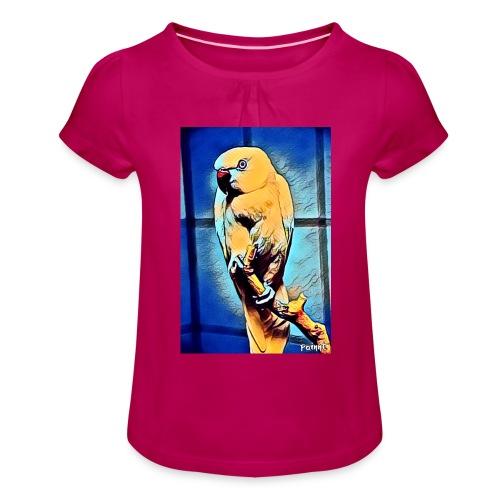 Bird in color - Tyttöjen t-paita, jossa rypytyksiä