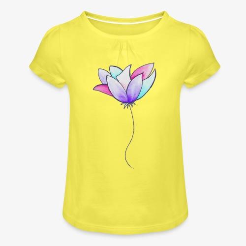 Fleur - T-shirt à fronces au col Fille