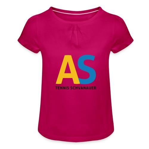 as logo - Maglietta da ragazza con arricciatura