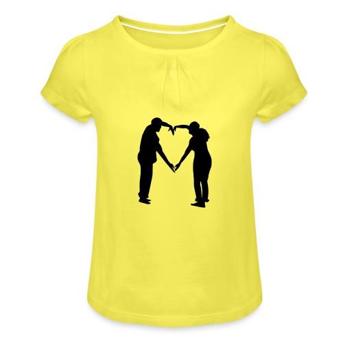 silhouette 3612778 1280 - T-shirt med rynkning flicka