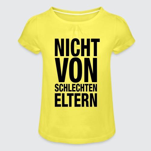 eltern - Mädchen-T-Shirt mit Raffungen