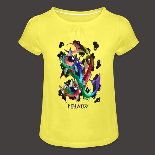 Poisson multi-color - T-shirt à fronces au col Fille