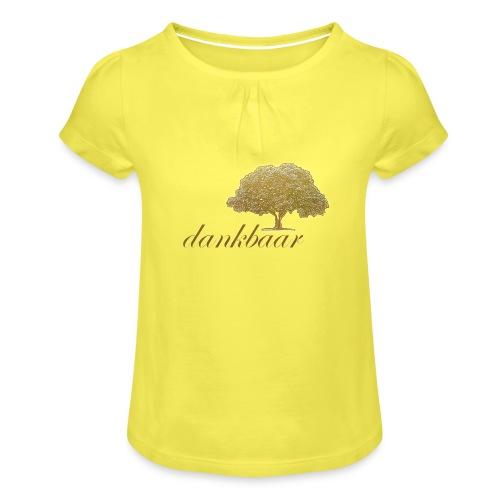 Dankbaar Boom Goud - Meisjes-T-shirt met plooien