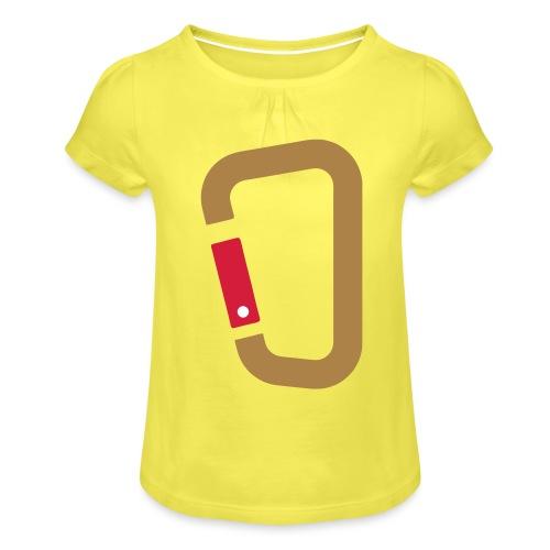 Karabin - Mädchen-T-Shirt mit Raffungen