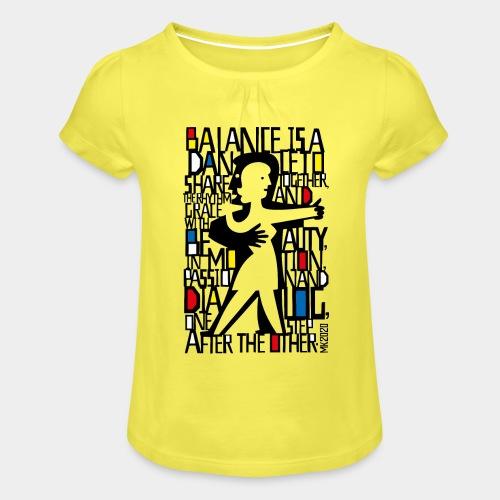 danseurs de musique de danse - T-shirt à fronces au col Fille