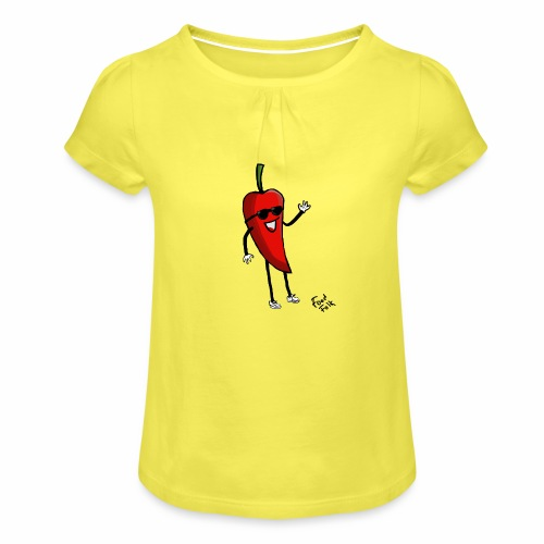 Hot Henrik - Girl's T-Shirt with Ruffles