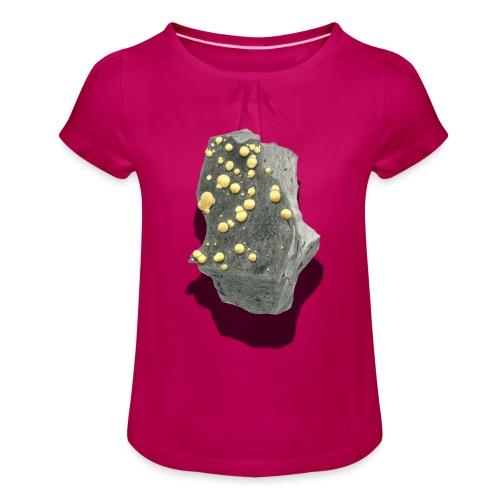 Kugelcalcit - Mädchen-T-Shirt mit Raffungen